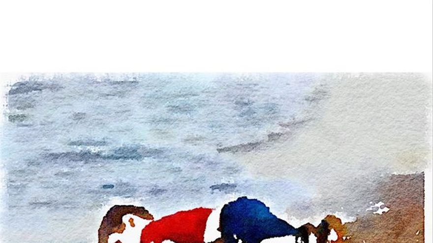 Aylan Kurdi Made in #waterlogue. /Robertsharp