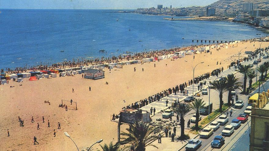 Playa de Las Alcaravaneras, 1965.