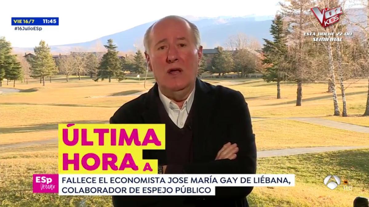 Josep Maria Gay de Liébana en 'Espejo Público'