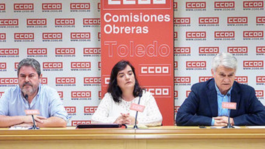 Jesús García Villaraco, Chelo Cuadra y Jose Luis Gil, CCOO Castilla-La Mancha / Foto: CCOO