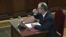 Jordi Turull durante su declaración ante el Tribunal Supremo.