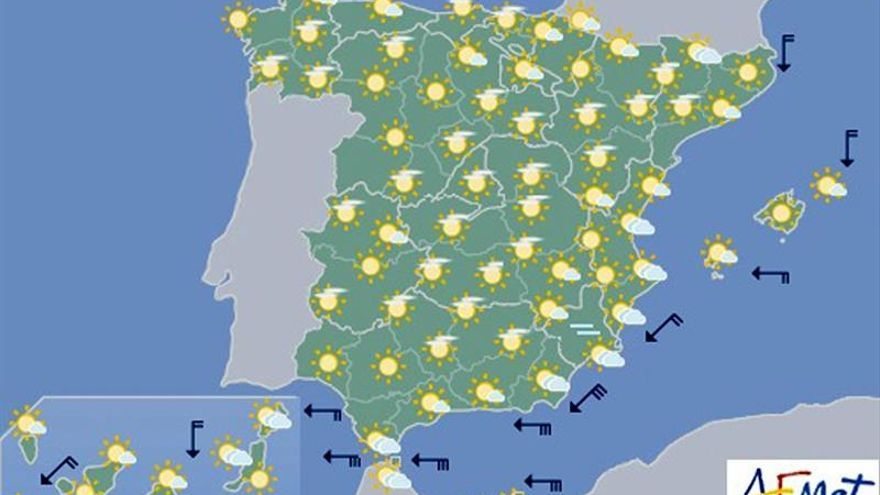 Hoy, tiempo estable en la mayor parte del país
