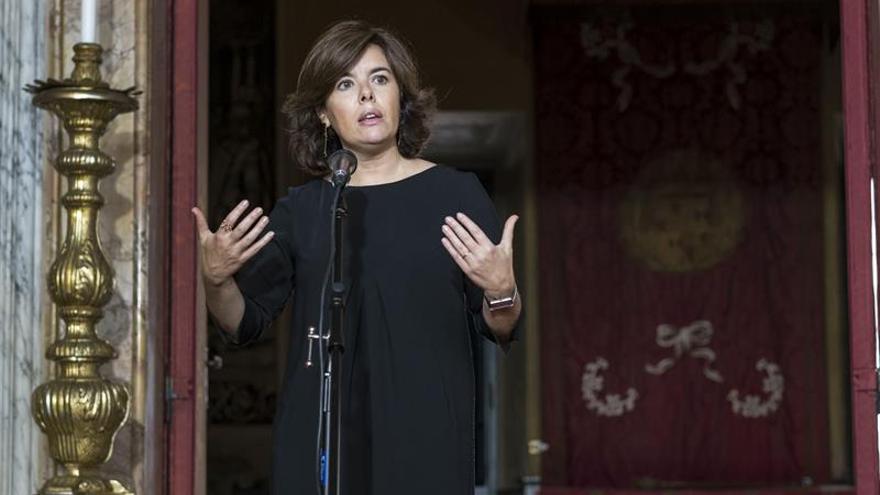 La vicepresidenta: el Vaticano apoya la decisión de todos los españoles sobre Cataluña