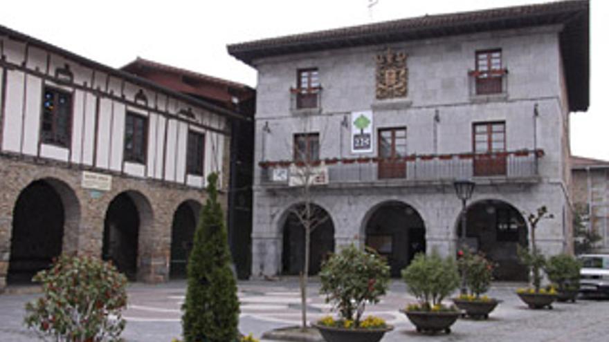 Fachada del Ayuntamiento de Orozko.
