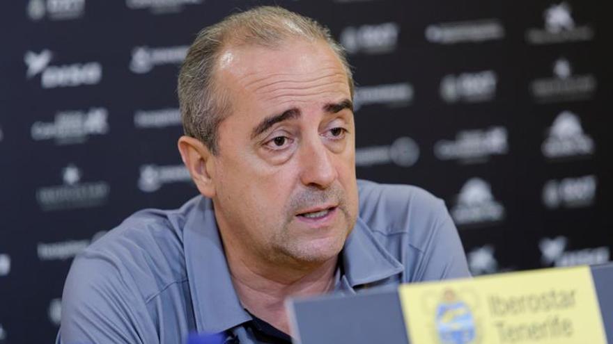 Txus Vidorreta durante la rueda de prensa previa al encuentro de este sábado ante el Real Madrid.