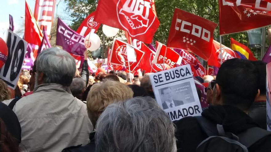Manifestación del Primero de Mayo en Madrid, este 2018.