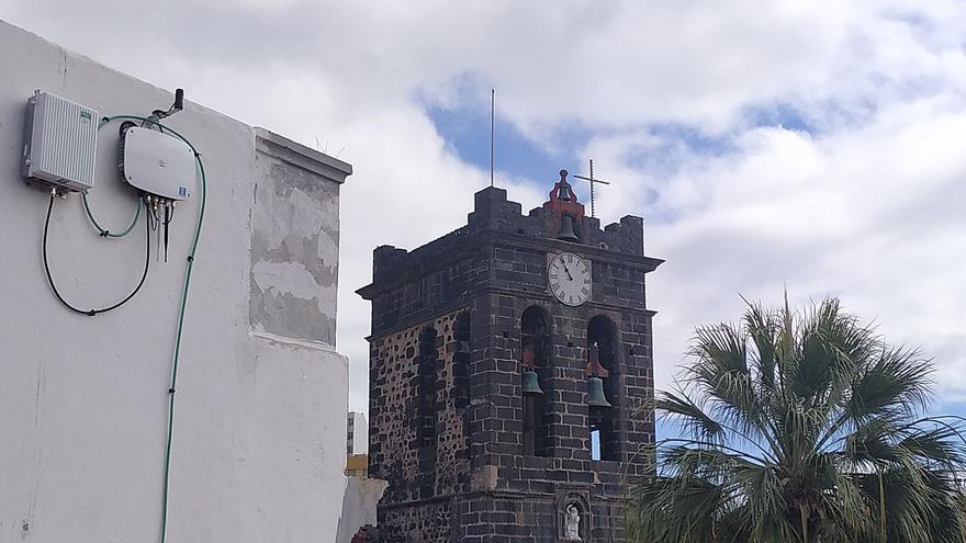 Sensor cerca de la torre de El Salvador.