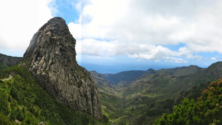 Roque Agando, perteneciente al Monumento Natural de Los Roques en La Gomera