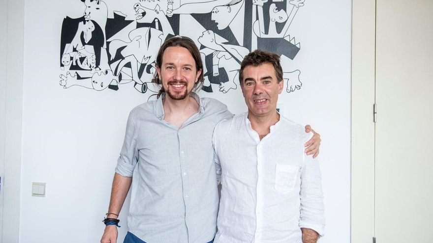 """Pablo Iglesias transmite a Eduardo Santos su confianza en que Podemos sea """"palanca de cambio"""" en Navarra"""