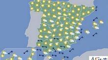 Mañana, lluvia en sudeste peninsular y ascenso térmico en casi todo el país