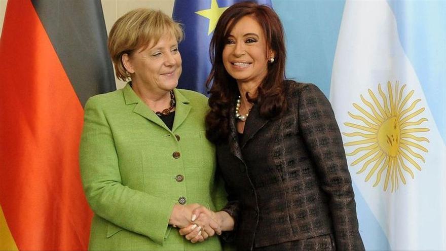 Merkel y Cristina Kirchner en Berlín en 2010