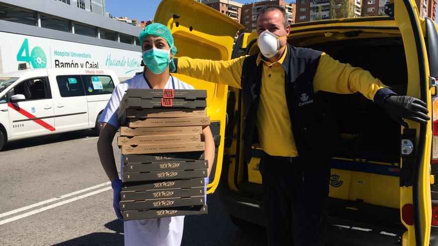 Catering de lujo y restaurantes se unen para llevar comida a los hospitales.