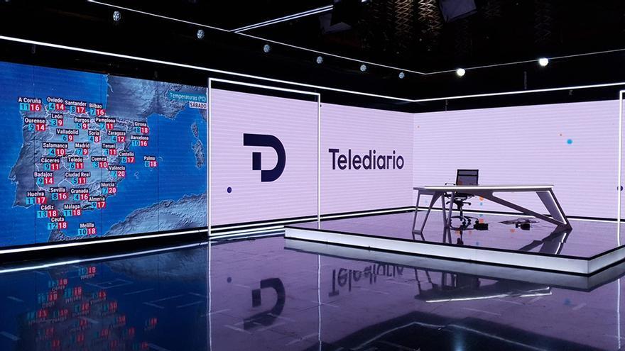 Nuevo plató del Telediario de TVE