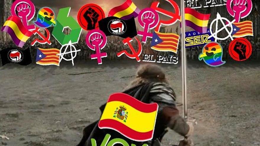 El meme de Vox que ha molestado a Aragorn