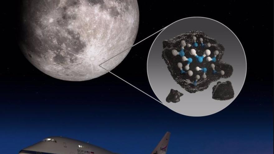 """La NASA descubre agua en el lado iluminado de la Luna: """"Este descubrimiento desafía nuestra comprensión de la superficie lunar"""""""