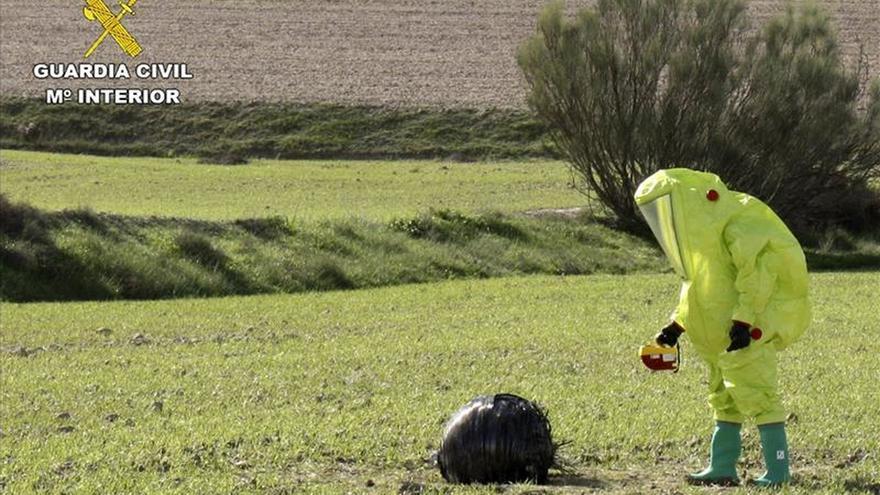Encuentran un objeto aeroespacial caído en una zona rural de Mula (Murcia)