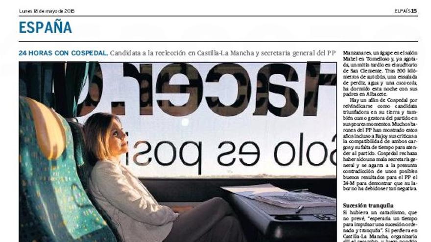 24 horas con Cospedal en El País