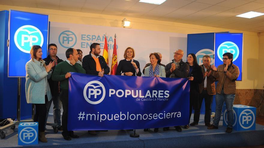 María Dolores de Cospedal en el inicio de campaña en Guadamur (Toledo) / PP