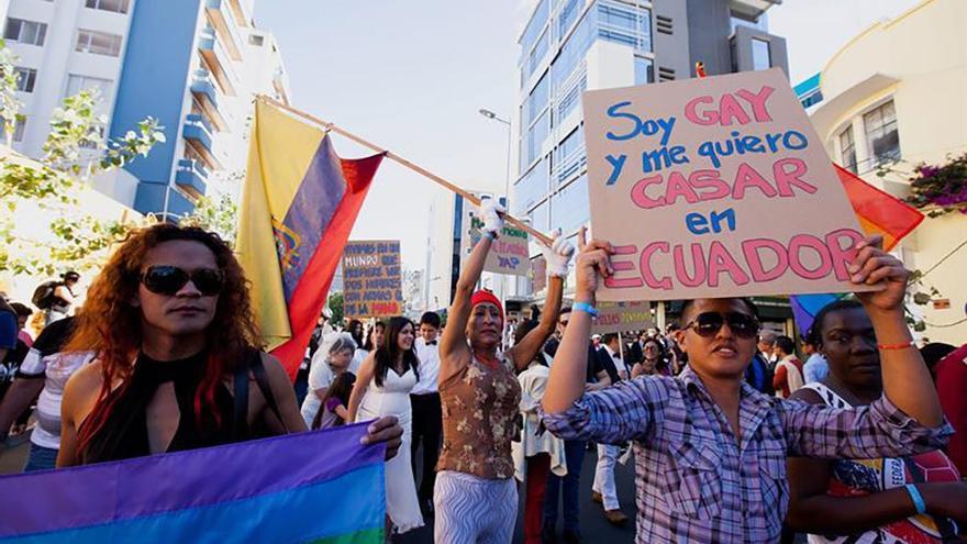 Celebración del orgullo gay en Ecuador.