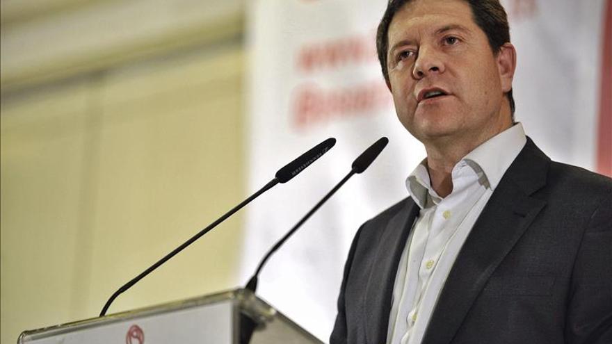 """García Page advierte que el pacto antiterrorista """"no es un cheque en blanco"""" al PP"""