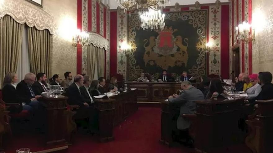 Imagen del pleno del Ayuntamiento de Alicante