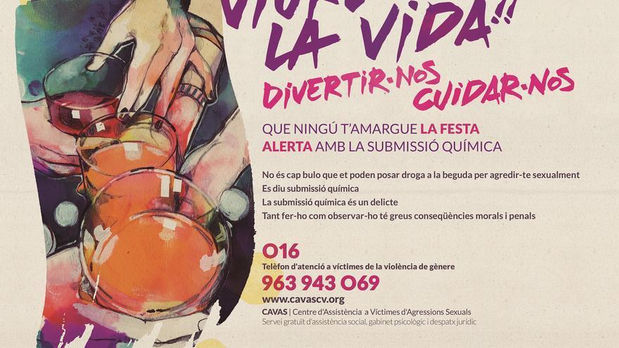 Campaña informativa del IVAJ contra las agresiones sexuales perpetradas utilizando la sumisión química.
