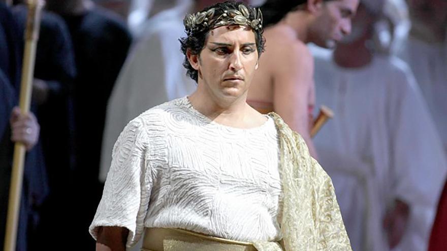 Jorge de León, en una interpretación de 'Aida'