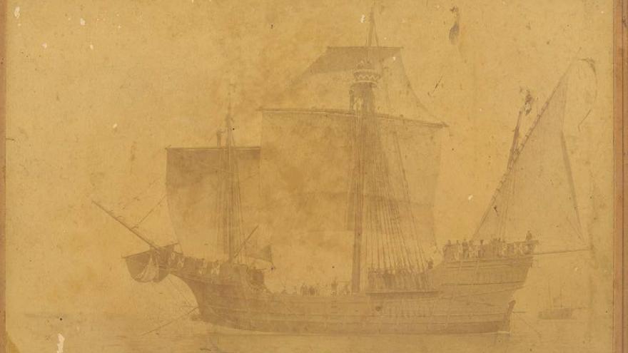 Dibujo para el actual barco de la Virgen.