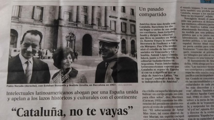 """Cataluña, no te vayas"""