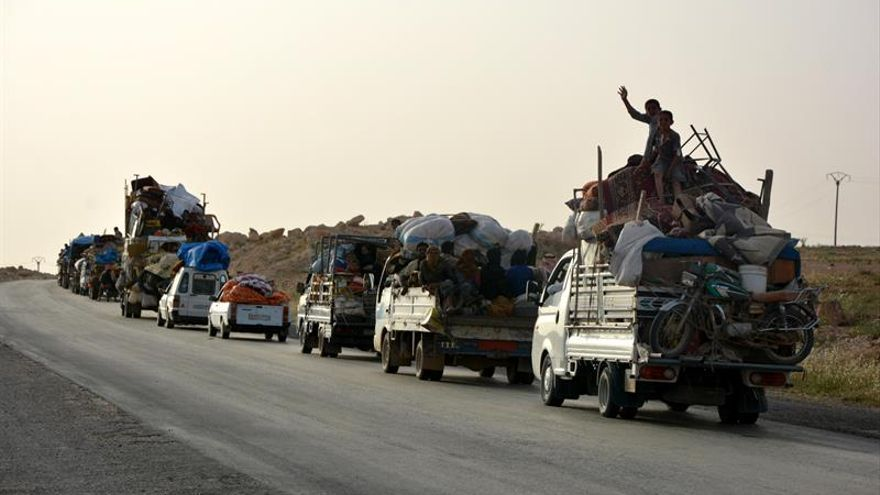 Las FSD toman el control de un barrio del centro de Al Raqa