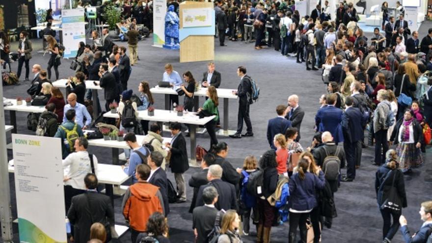 Participantes en la COP23 celebrada en Bonn bajo la presidencia de Fiyi