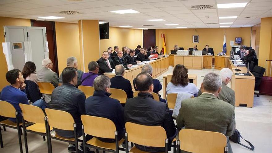 Vista oral del juicio que se sigue por el caso Catastro en la Audiencia Provincial tinerfeña