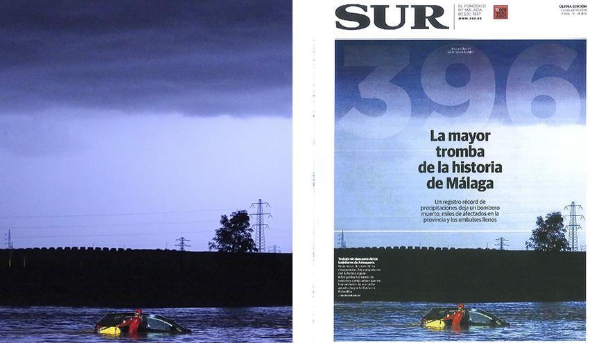 Foto de Salvador Salas que fue portada del diario Sur y que le ha valido para hacerse con el Premio Andalucía de Periodismo.