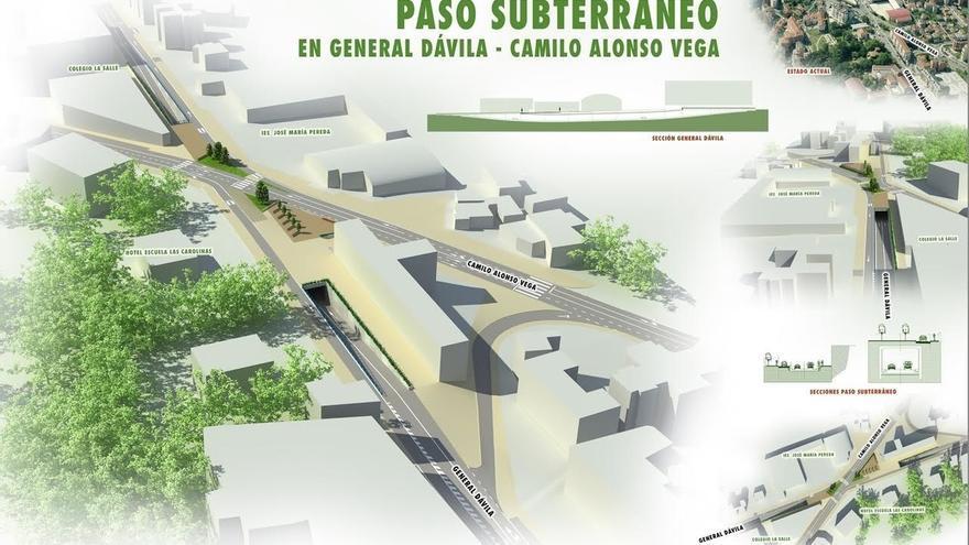 PP plantea acometer con recursos municipales el paso inferior de General Dávila en su cruce con Alonso Vega