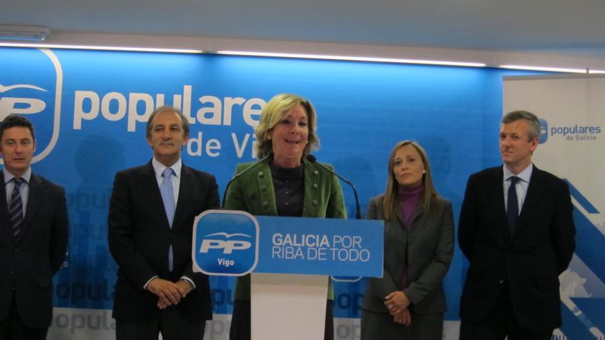 """Aguirre llama a los """"desencantados"""" a votar al PP y asegura que """"no basta"""" con la mayoría simple"""