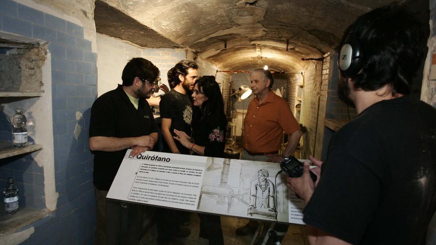 Rodaje de 'Al sur de Guernica' en los Refugios de la Guerra Civil de Almería