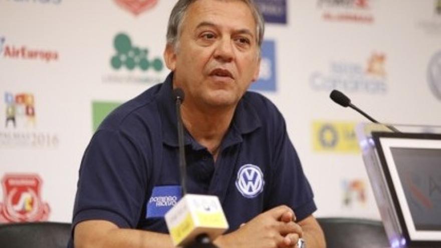 Juan Manuel Rodríguez en rueda de prensa.