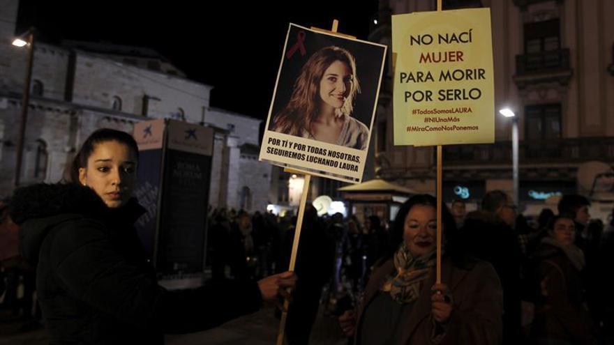 Protesta tras el secuestro y asesinato de Laura Luelmo