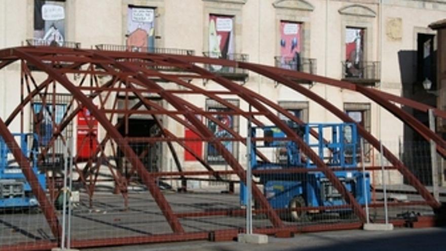 Cúpula de 22 toneladas que protegerá el patio del Palacio Ducal de Medinaceli (S