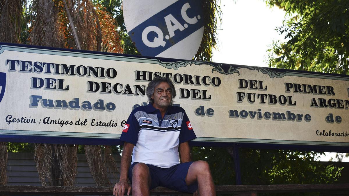 """Omar """"Indio"""" Gómez, el máximo ídolo de Quilmes."""
