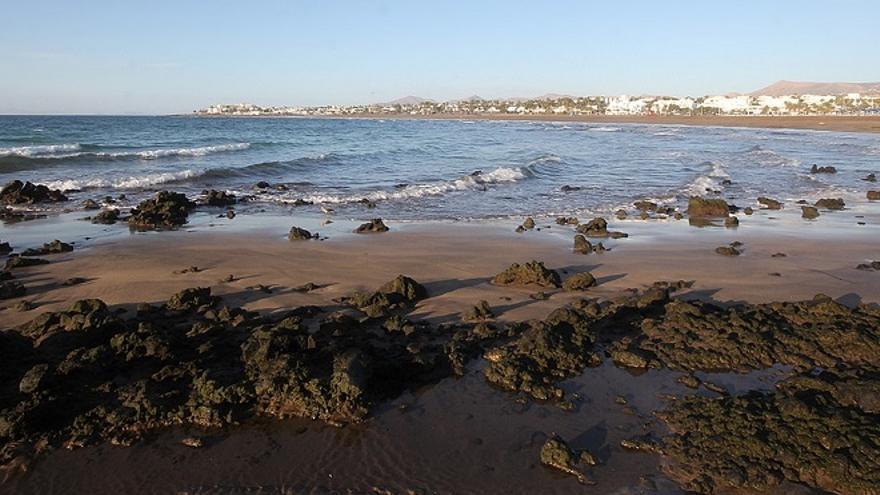 Playa Pocillos en el municipio de Tías