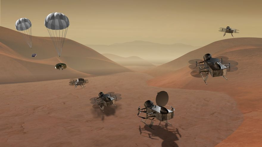 La NASA acaba de financiar Dragonfly, un proyecto de dron para sobrevolar Titán