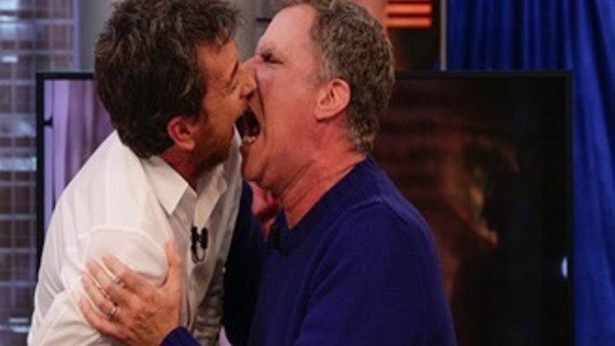 Los pechos de 'Pe' y la estatura de Motos, con Ben Stiller y Will Ferrell en 'El Hormiguero'