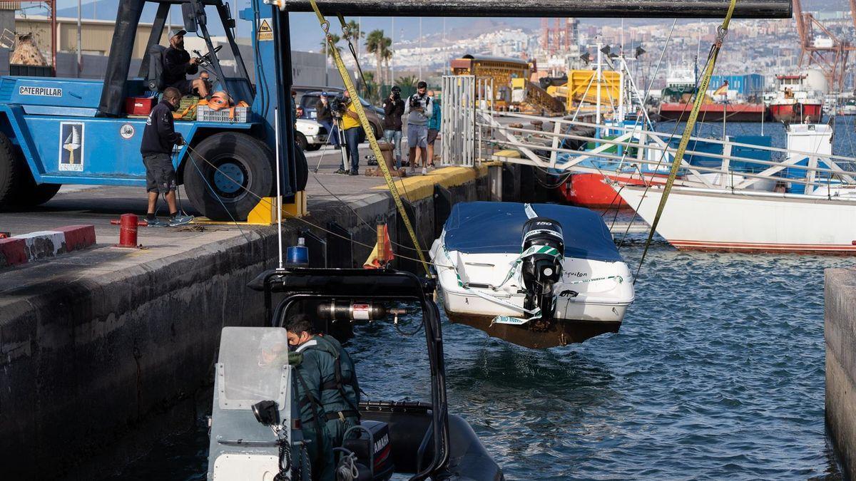 Embarcación de Tomás Gimeno, el padre de las niñas desaparecidas