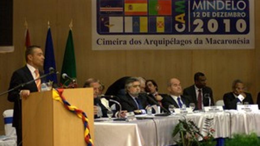 Paulino Rivero, en la I Cumbre de la Macaronesia. (ACFI PRESS)
