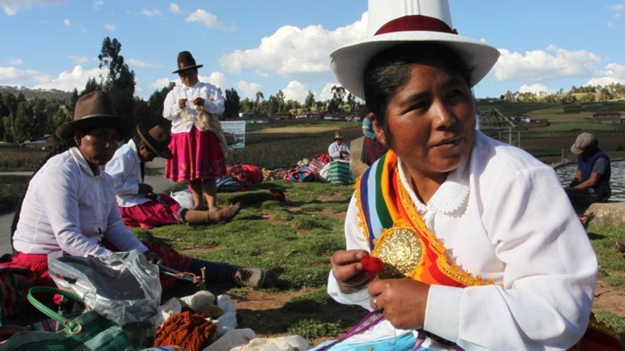 Yony Hinojosa, alcaldesa de Chacán. (Lydia Molina/Ayuda en Acción)