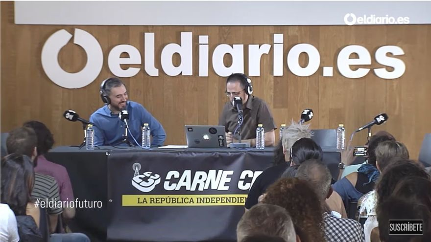 Ignacio Escolar en Carne Cruda. V Aniversario eldiario.es