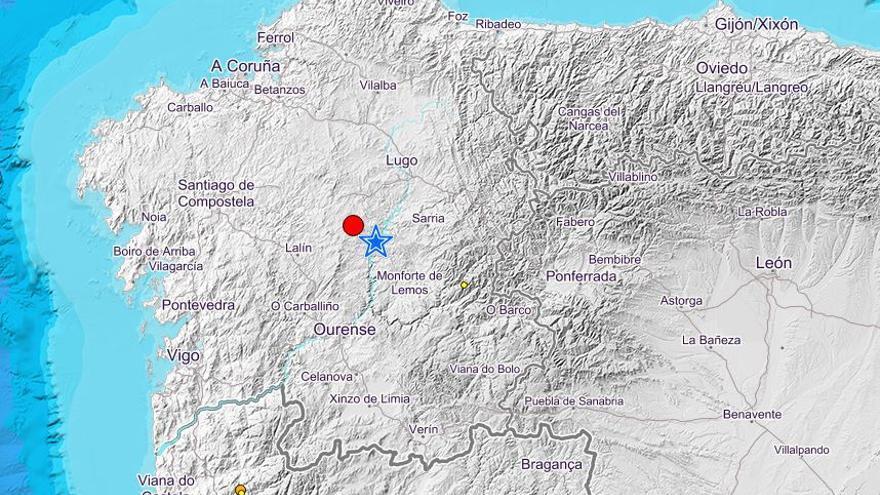 Localizado un terremoto en la provincia de Lugo