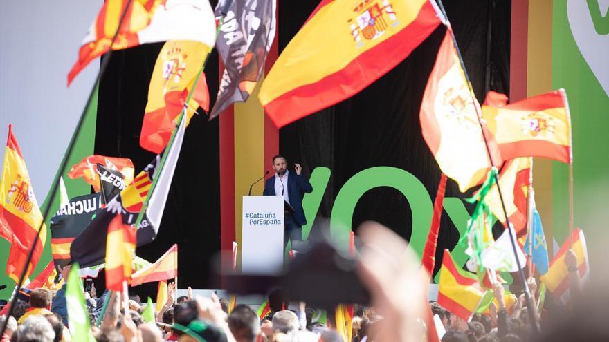 Santiago Abascal en el acto celebrado en Barcelonao