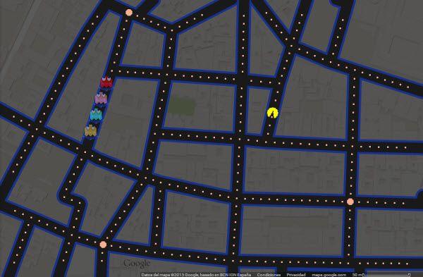Una captura de pantalla del videojuego, centrado en la Plaza de Chueca